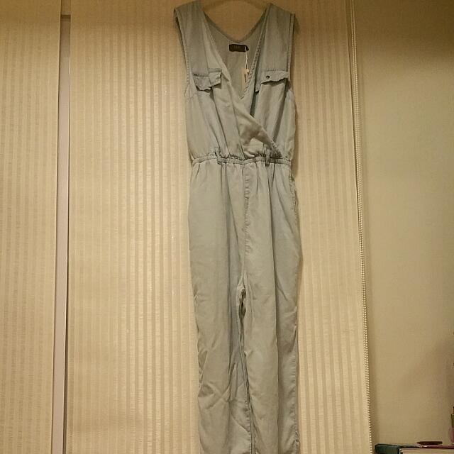 Temt Denim Jumpsuit Size 10