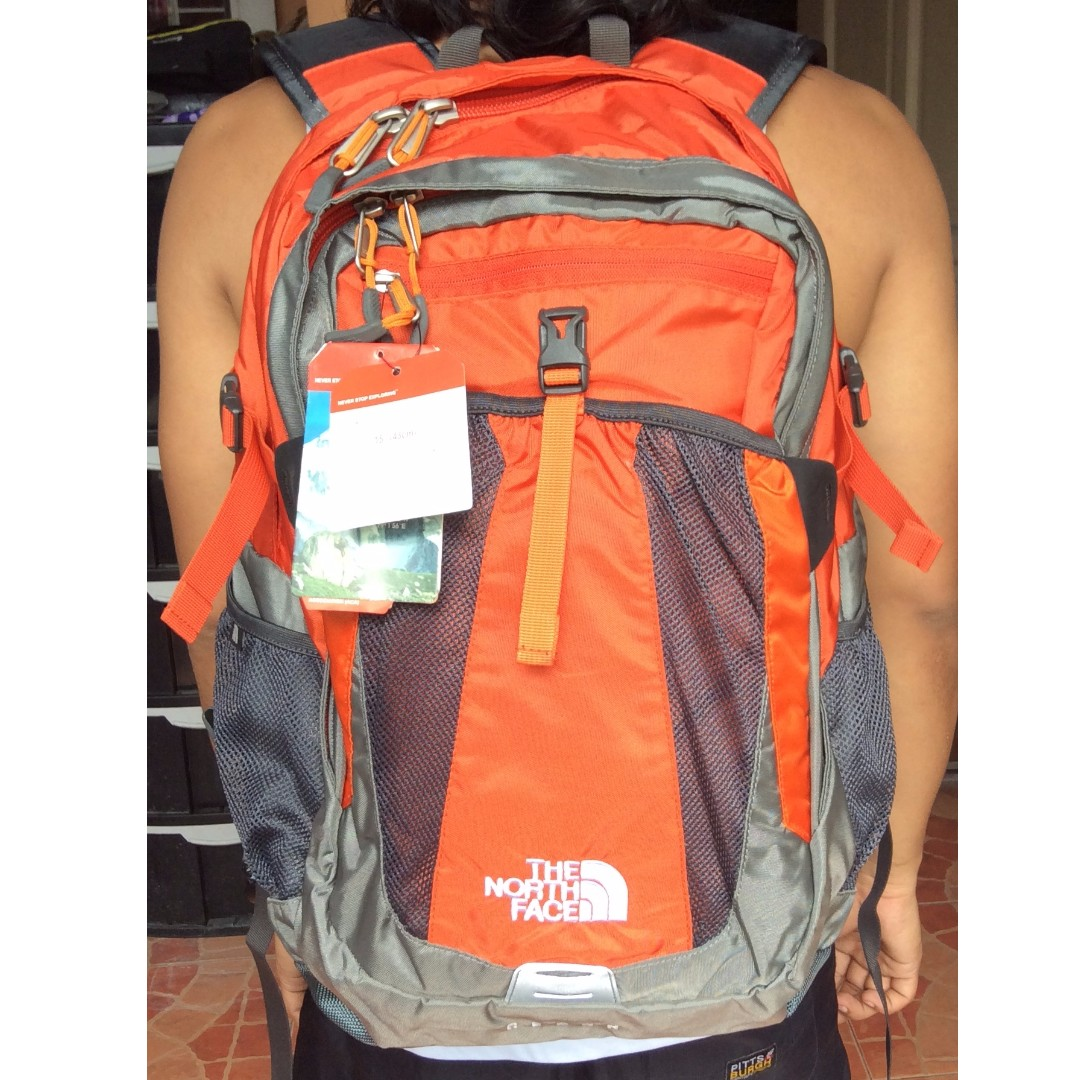 The North Face Recon backpack (orange)