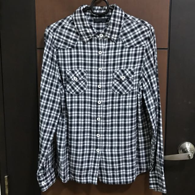 Topshop Flannel Plaid Long sleeves
