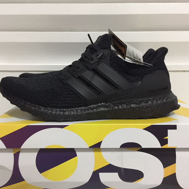 1a0eeecd9 UK11 US11.5  adidas Ultra Boost 3.0 Triple Black V2
