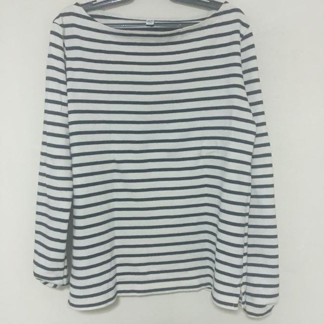Uniqlo B&W Stripes Shirt
