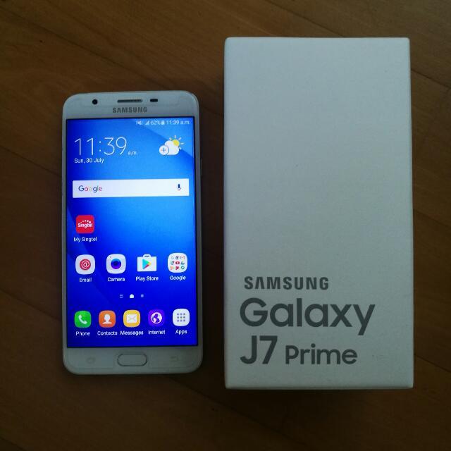 Used Samsung J7 Prime White Gold Mobile Phones Tablets
