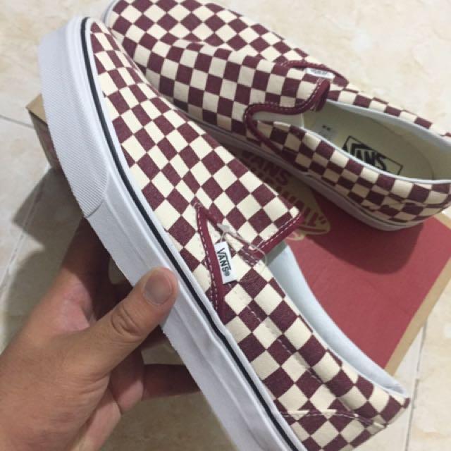 Vans Slip-on Red Checkerboard(Size 10)