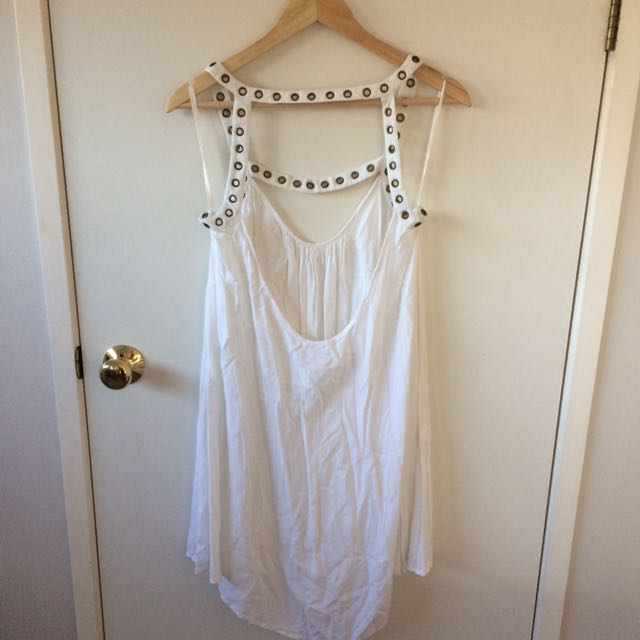 White O'Neill Low Back Dress Size 12