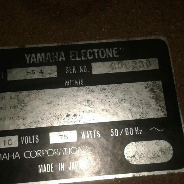 Yamaha Electrone Hs 4