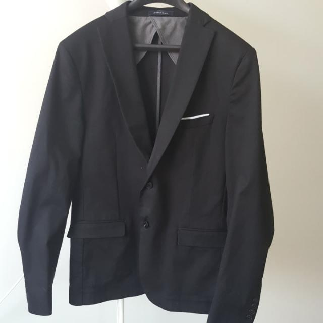 Zara Man - Blazer Black - Size USA 44
