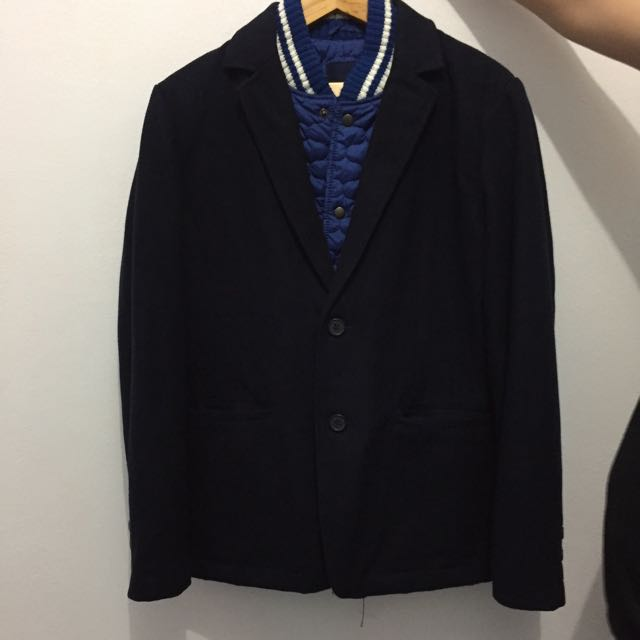 Zara Man Coat Suit Size L