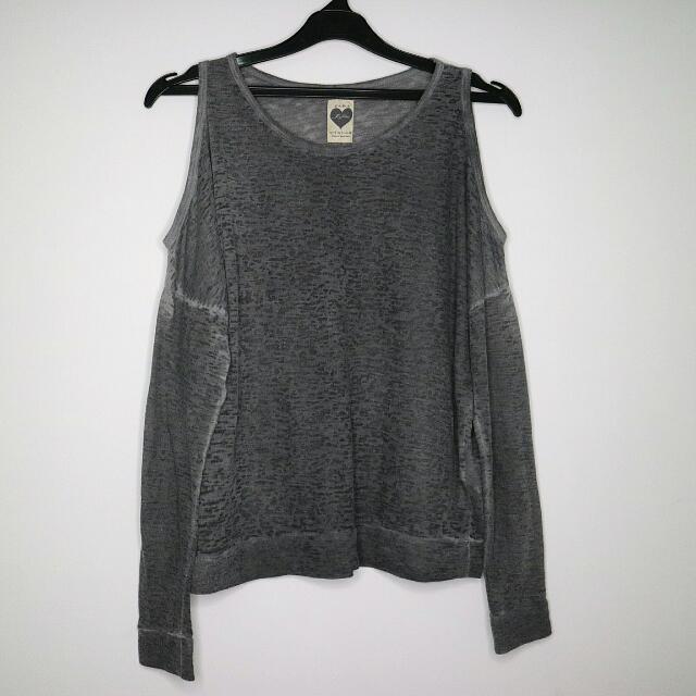 ZARA TRF Cut out shoulder (Grey)