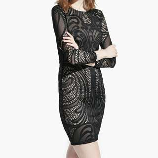 💯 MNG Embroided Dress Size S