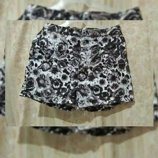 High Waist Printed Short