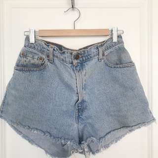 Vintage Levi Blue Cut Off Shorts - 550, size 12 (fits 6/8)