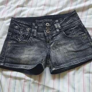 Black Washed Shorts