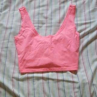 Pink Tank Crop Top