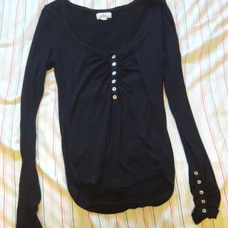 Black Button Up Long Sleeve