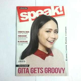 Majalah Speak January 2016 Gita Gutawa