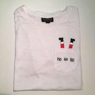 TOPSHOP Santa T-Shirt
