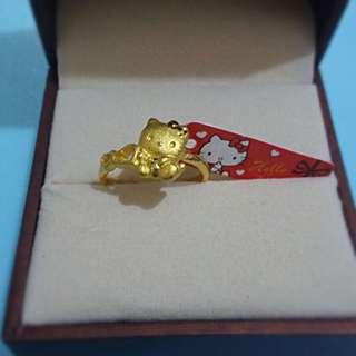 「極具珍藏」999.9黃金hello kitty戒指 0.133兩(4.97克)有單