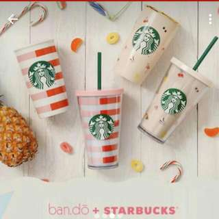 New Starbucks Ban.do Double Wall Ceramic Cup