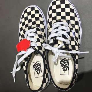 Vans 鞋帶黑白格