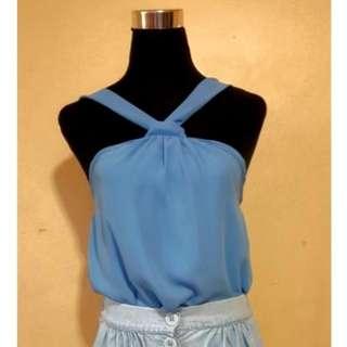 baby blue halter top