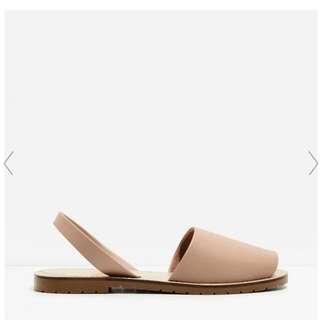 Charles & Keith Peep Toe Slingback Sandal