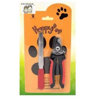 現貨~36小時內出貨~Happy Pet 大型犬貓寵物剪附銼刀