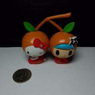 Hello Kitty x tokidoki Special Edition Tangerine Kitty Figure