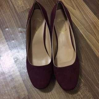 Red Wine Platform Heels