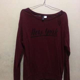 Sweater hnm Maroon