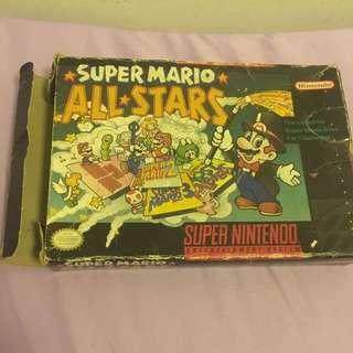 Super Mario All Star For Nintendo Super Nes