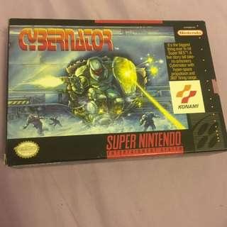 Cybernator For Nintendo Super Nes
