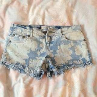 Flower Patterned Shorts