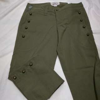 ONLY | Trousers / Green Pants