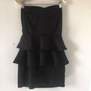 Ruffle Bodycon Tube Dress