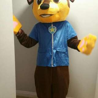 Paw Patrol Chase Costume Mascot For Adult
