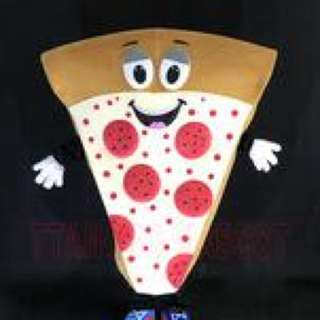 Marketing Pizza Costume Mascot For Adult