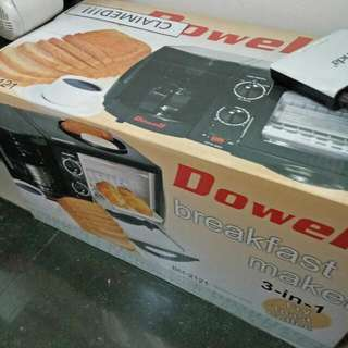 SALE SALE!!!!!💯 BRAND NEW DOWELL BREAKFAST MAKER 3 in 1