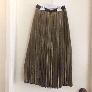 Zara Inspired Gold Skirt