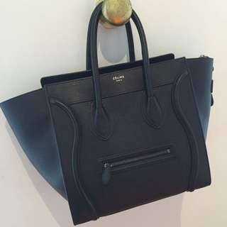 Authentic Celine Mini Luggage Bag