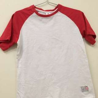 Red And White Simple T Shirt