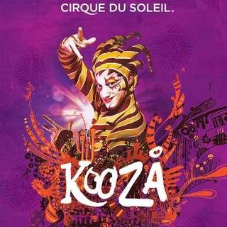 Kooza Tickets x 2 CAT3