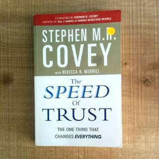 The Speed Of Trust, Stephen Covey Book
