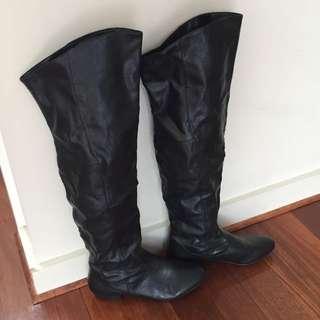 Black Maxi Boots 8