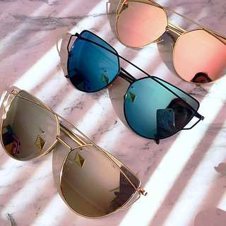Mirror Lens Fashion Hot Rose Gold Sunglasses