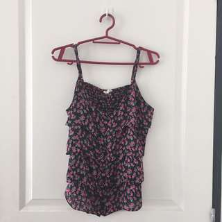 F21 Sleeveless Floral Top