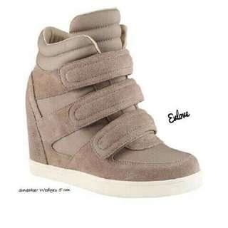 Cream Sneaker Wedges