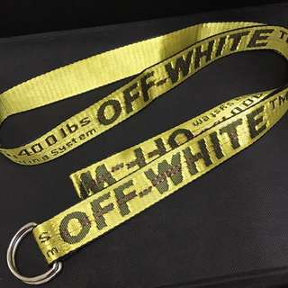 Off White Tie Down Belt