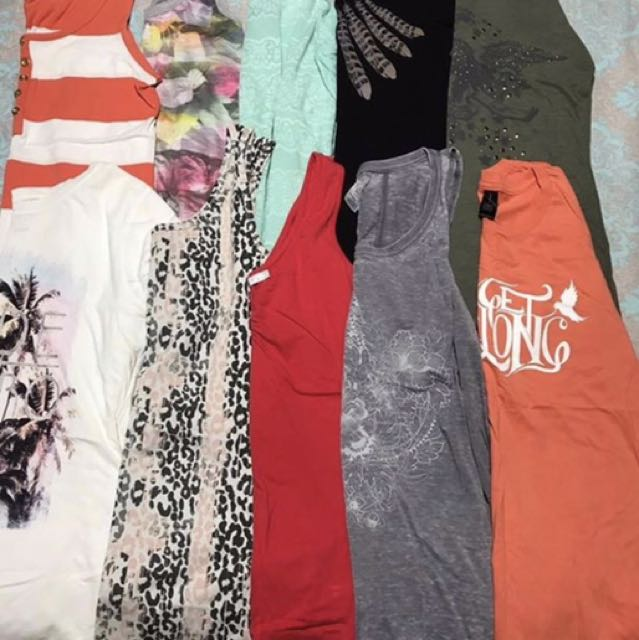 10x Hardly Worn Tops/Singlets Size 10/12!