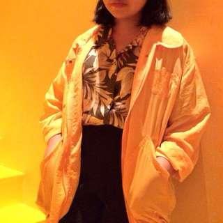 Yellow Vintage jacket/parachute parka