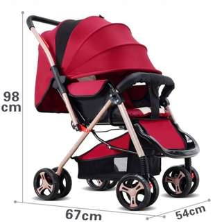 NEW DESIGN Baby Stroller Two Way Push Safety Chair Baby Baby Seats